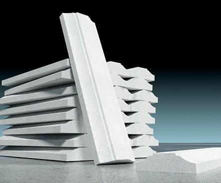 prefabricado de concreto molduras exteriores